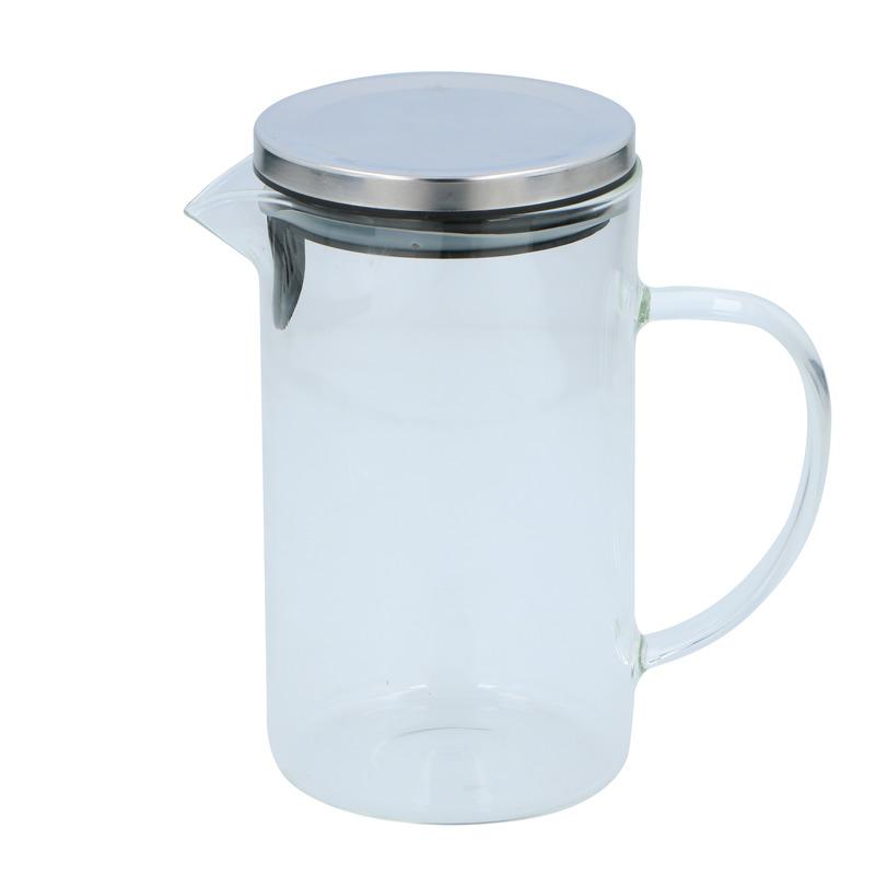 Glazen schenkkan met deksel 1 liter