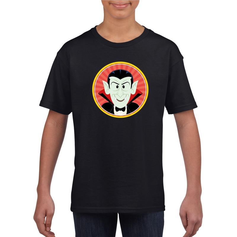 Graaf Dracula halloween t-shirt zwart voor jongens en meisjes