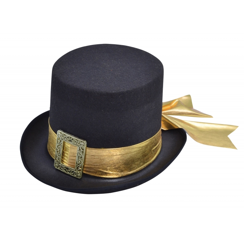 Graaf hoge hoed met goud lint