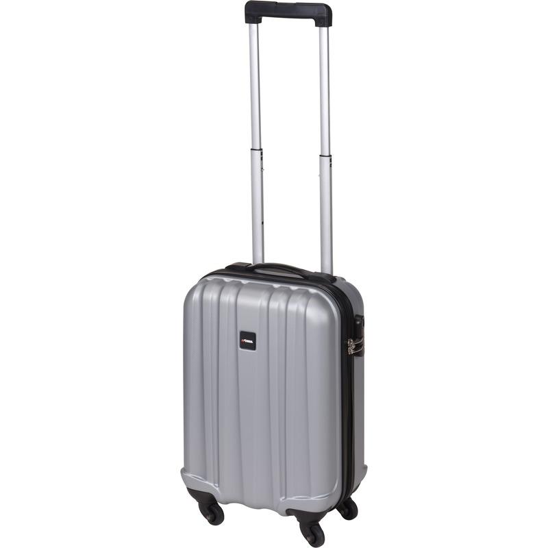 Grijze kleine trolley-koffer 45 cm