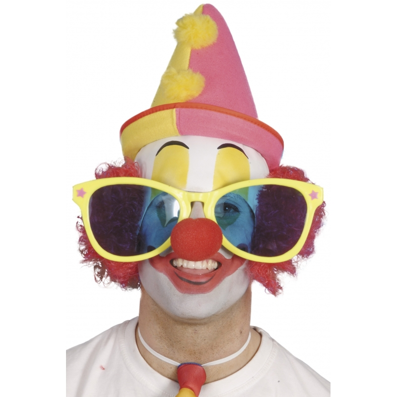 Grote clownsbril