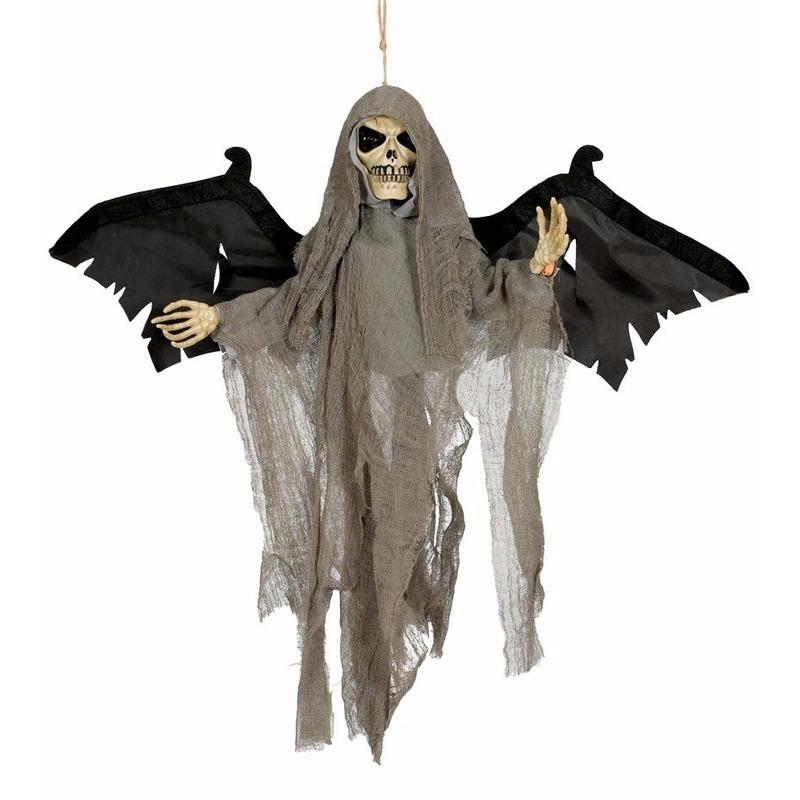 Grote Hangende Skelet Pop Met Licht 45 Cm