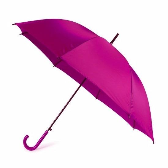 Grote paraplu fuchsia roze 107 cm