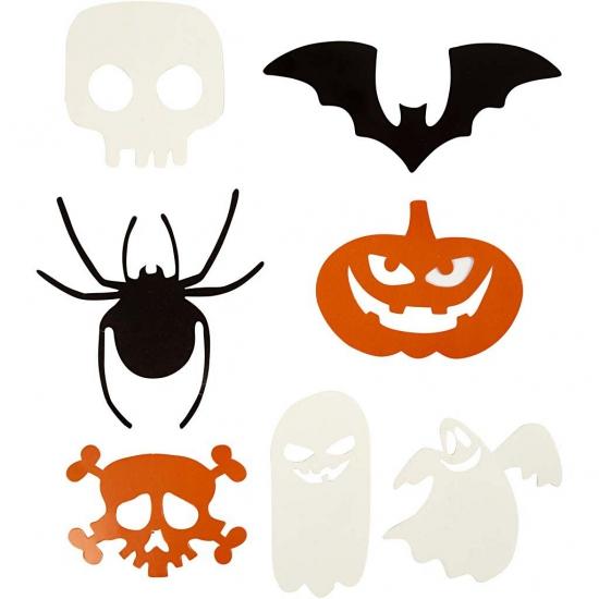 Halloween decoratie stansjes 7 soorten