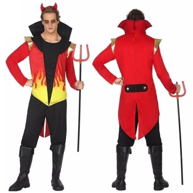 Halloween verkleedkleding duivel met vlammen