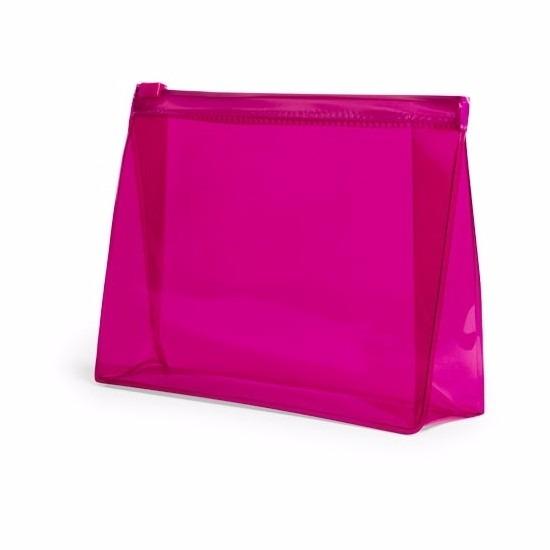 Handbagage toilettas roze 17 cm