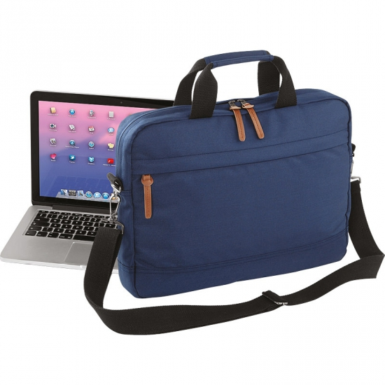 Handige laptoptas navy 15 inch