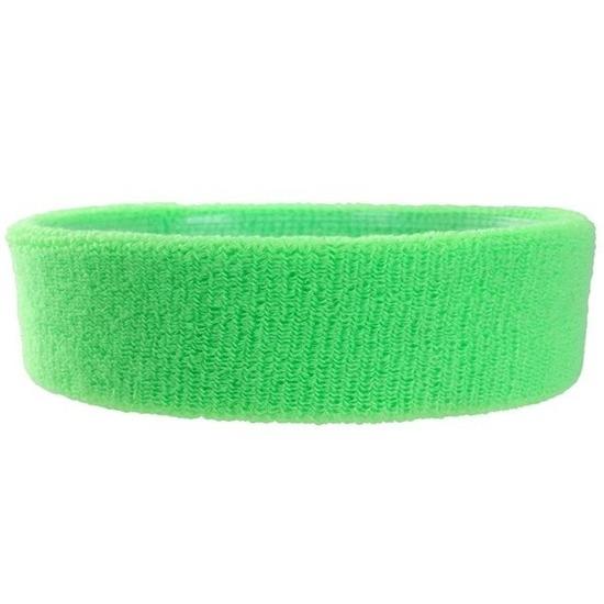 Hoofdbandje neon groen voor volwassenen