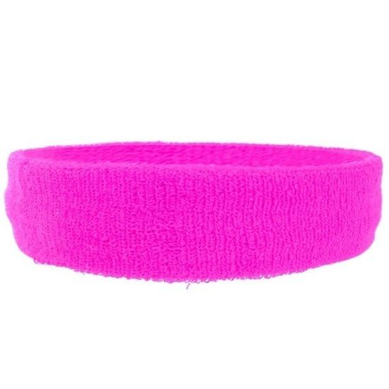 Hoofdbandje neon roze voor volwassenen
