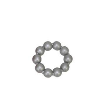 Houten kralenarmband zilver