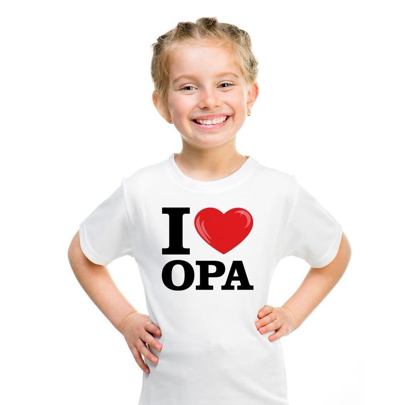 I love Opa t-shirt wit jongens en meisjes