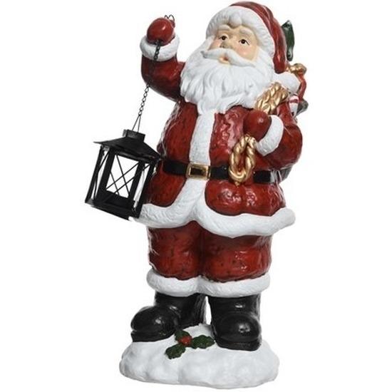 Kerst decoratie Kerstmannen beeldje 46 cm