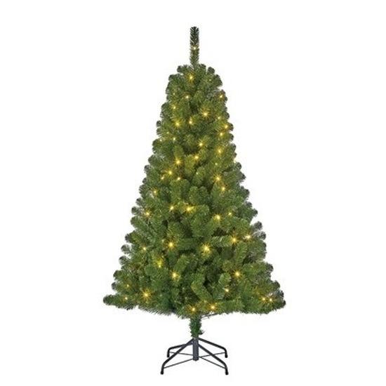 Kerst kunstboom Charlton 340 tips met Kerstverlichting 155 cm
