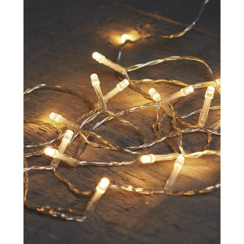 Kerst lampjes lichtjes warm wit op batterijen 2 meter
