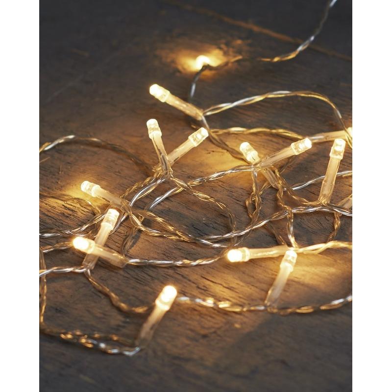 Kerst lampjes lichtjes warm wit op batterijen 4 meter