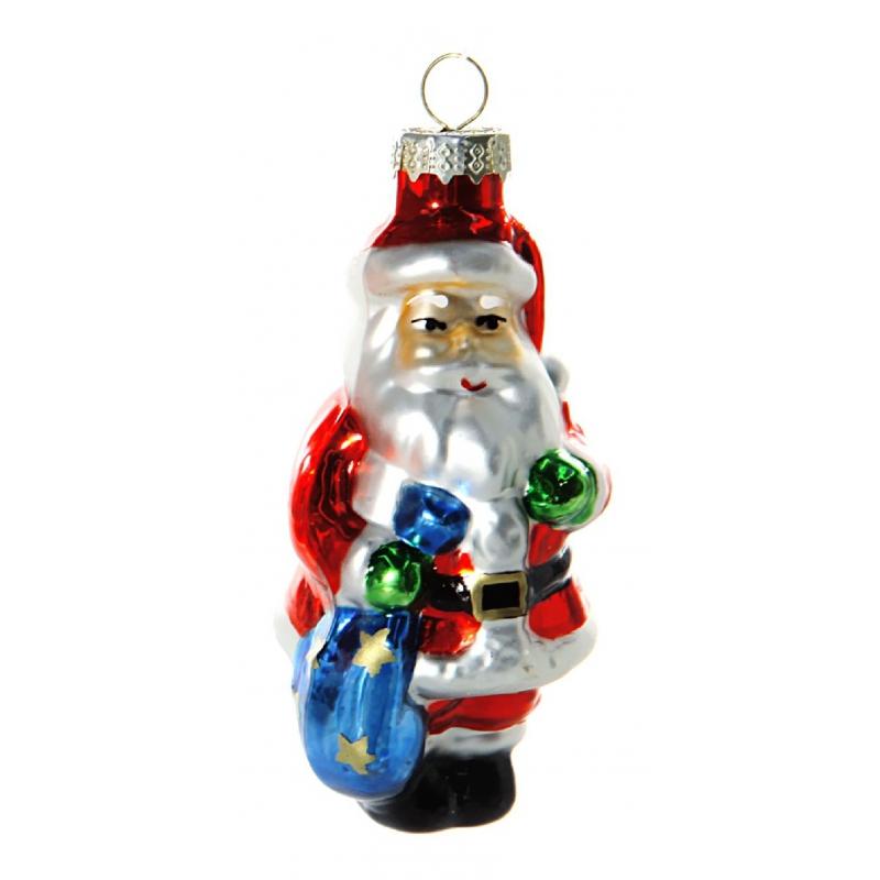 Kerstbal kerstmannetje 8 cm