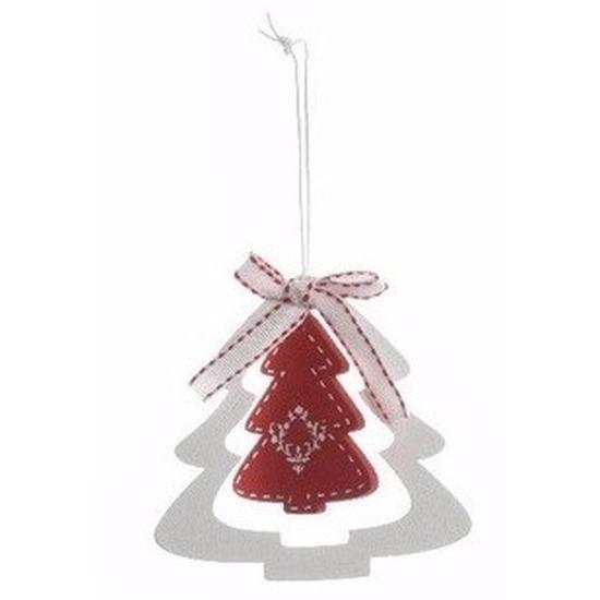 Kerstboom decoratie hanger rode kerstboom