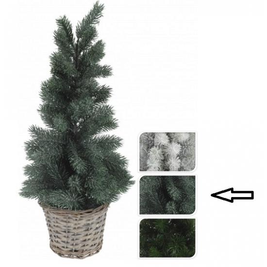 Kerstboom groen in mand 60 cm