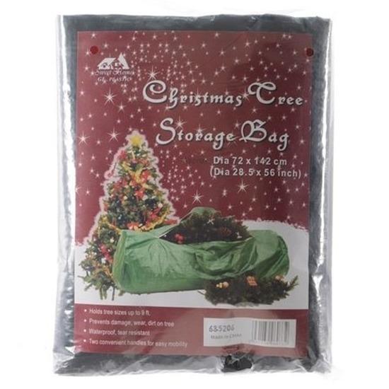 Kerstboom opbergen groene tas met rits 73 x 142 cm