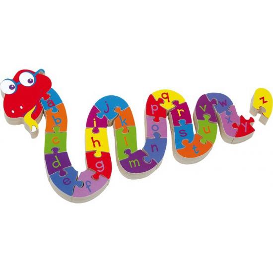 Kinder alfabet puzzel slang