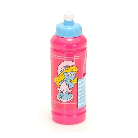 Kinder roze Smurfen drinkfles