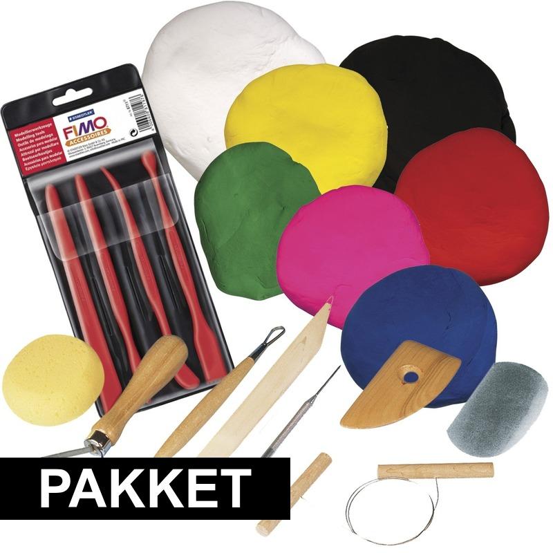 Klei speelgoed pakket met boetseerpasta en gereedschap