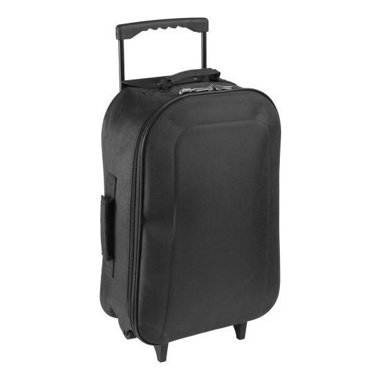 Koffer op wieltjes zwart 46 cm