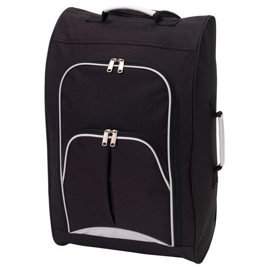 Koffer op wieltjes zwart 55 cm