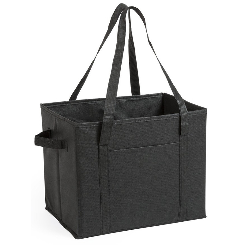 Kofferbak-kasten opberg tas zwart voor auto spullen 34 x 28 x 25 cm