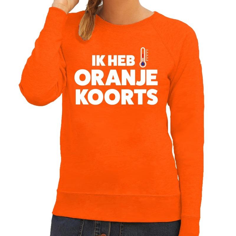 Koningsdag fun trui Ik heb Oranjekoorts voor dames