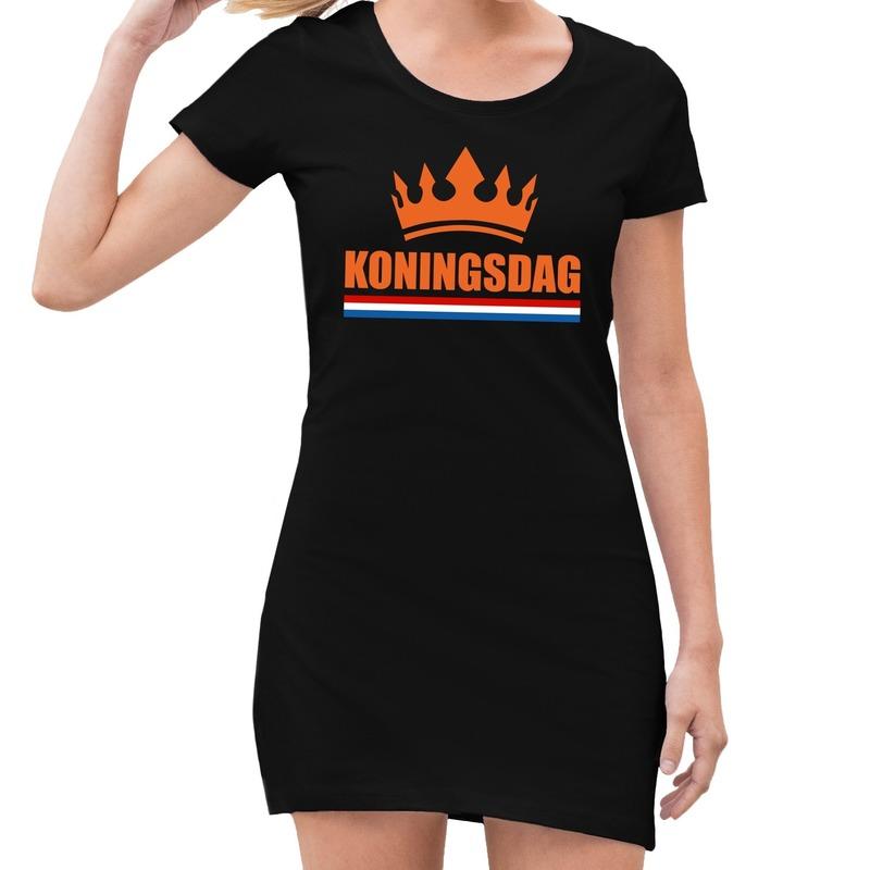 Koningsdag kroon jurk zwart dames
