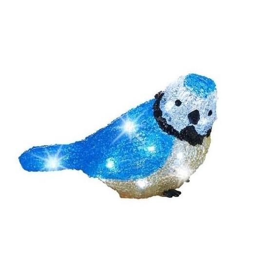 LED acryl figuren blauwe vogel 22 cm