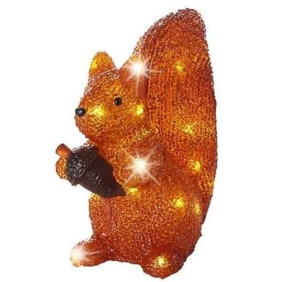 LED acryl figuren eekhoorn 27 cm