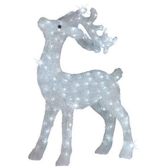 LED acryl figuren eland wit knipperend 73 cm