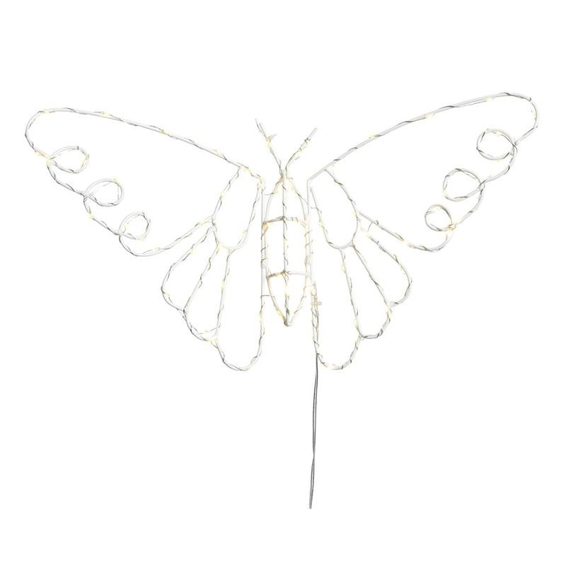 LED decoratie kerst vlinder 45 cm voor buiten