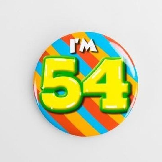 Leeftijd button 54 jaar