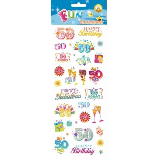 Leeftijd stickers 50 jaar