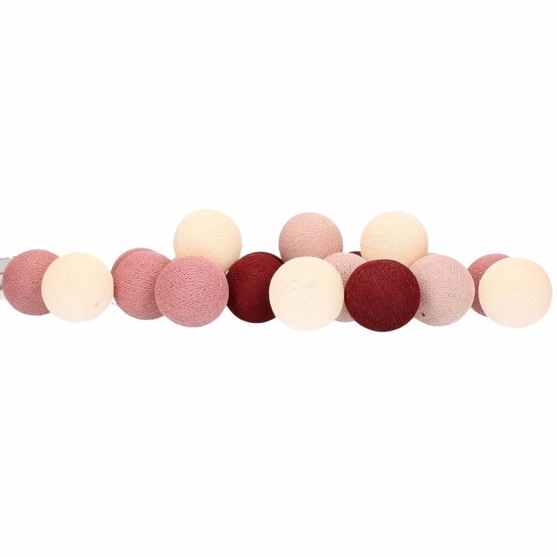 cotton balls rood lichtsnoer