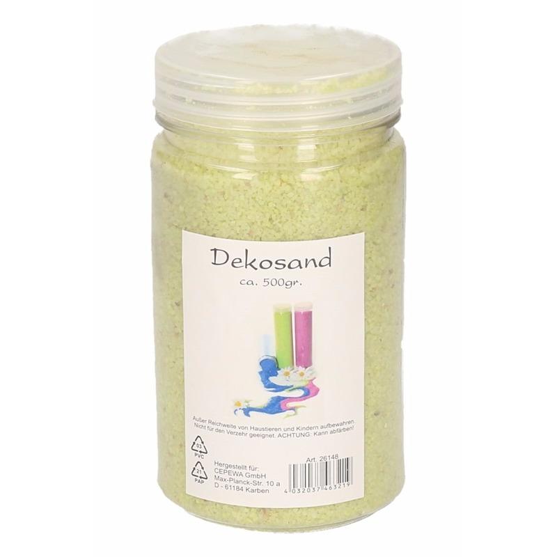 Lime decoratie zand 500 gram