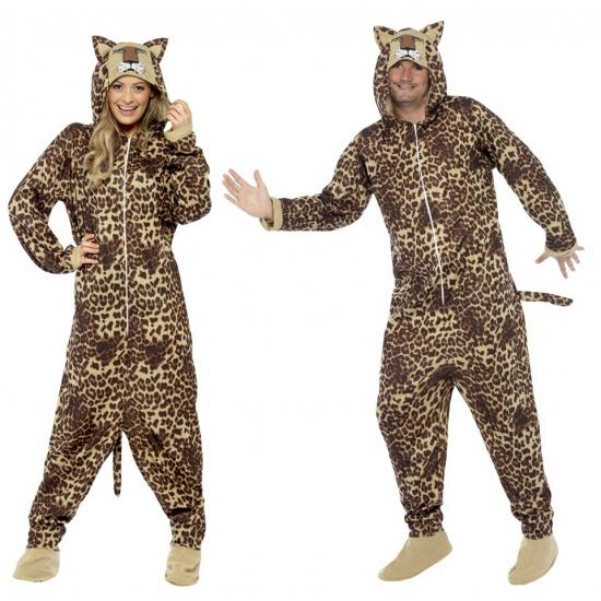 Onesie luipaard voor volwassenen. een leuke onesie voor dames en heren. deze onesie bestaat uit 1 geheel ...