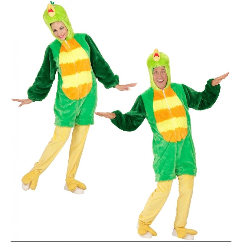Luxe groene vogel outfit voor volwassenen