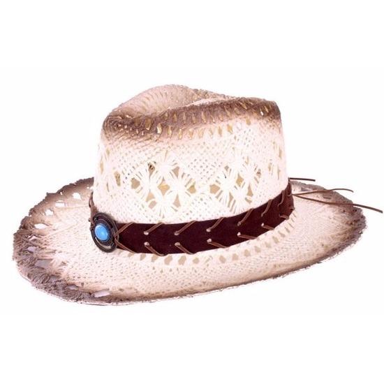Luxe ibiza cowboyhoed met steen