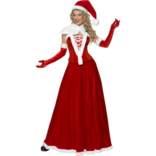 Luxe kerstman kostuum voor vrouwen