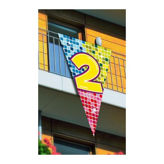 Mega vlag 2e verjaardag 90 x 150 cm