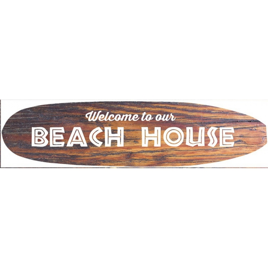 Metalen surfboard Beach House