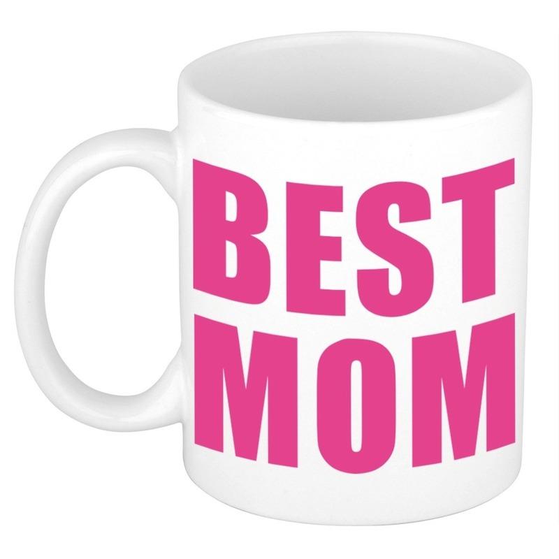 Moederdag cadeau mok / beker Best Mom 300 ml