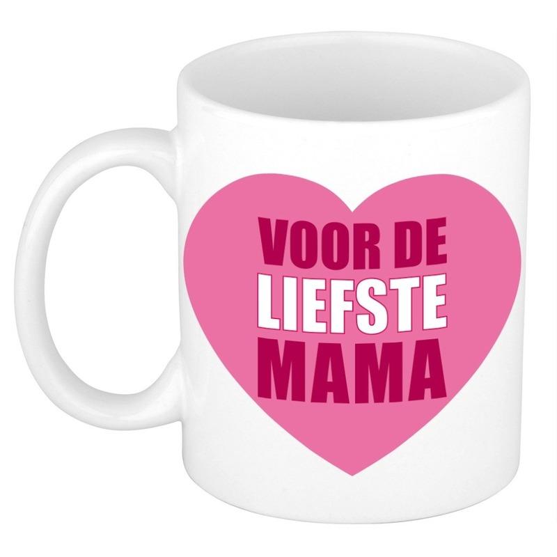 Moederdag cadeau mok / beker voor de liefste mama 300 ml