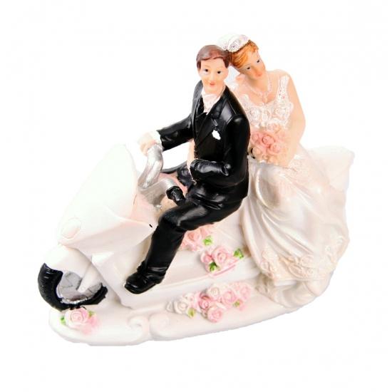 Motor rijdend bruidspaar figuurtje
