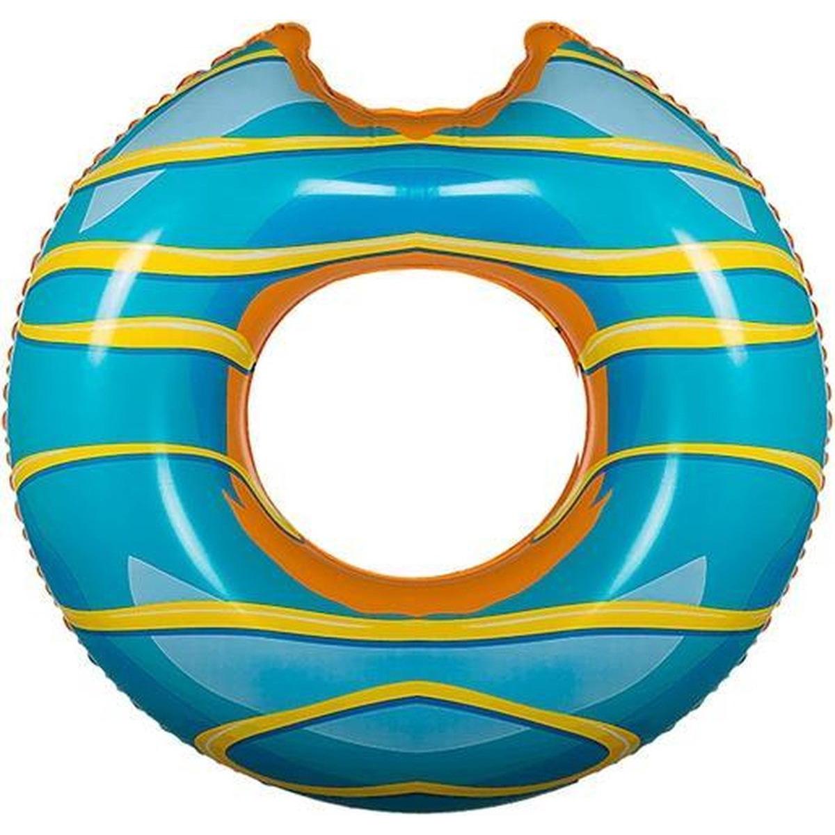 Opblaasbare donut zwemband blauw