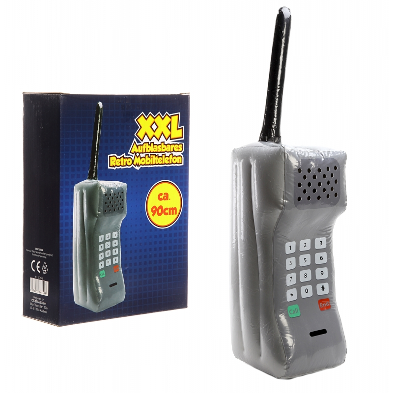 Opblaasbare retro telefoon XXL 90 cm